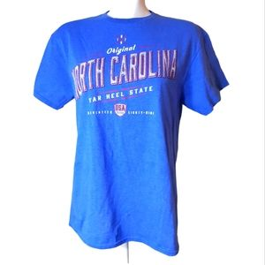 North Carolina blue quality preshrunk cotton tee